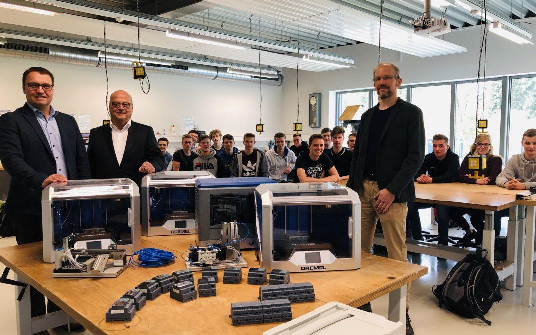Durch EFRE gefördert: Technikunterricht mit 3D-Druckern am Puls der Zeit